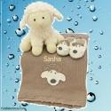 Crochet Baby Lamb Gift Set