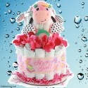 Girls Wanna Have Fun Diaper Cake