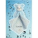 Polkadot Blue Puppy Blanket