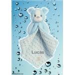 Polkadot Blue Puppy Blanket