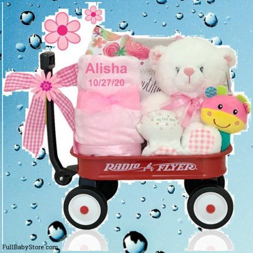 So Girly Baby Gift Wagon