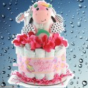 Girls Wanna Have Fun Diaper Cake