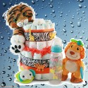 It's a Jungle out There Diaper Cake