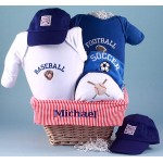 All Sports Personalized Baby Gift Basket