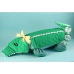 Alligator Changing Pad Diaper Cake Baby Gift