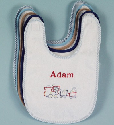 Baby Bib-Train & Baby's Name