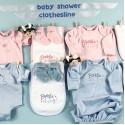 Baby Clothesline Twins Baby Gift Set