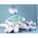 Baby Shower Keepsake Autograph Doll & Cupcakes-Baby Boy Gift