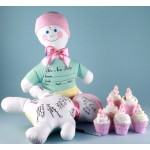 Baby Shower Keepsake Autograph Doll & Cupcakes-Baby Girl Gift