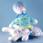 Baby Shower Keepsake Autograph Doll-Baby Boy Gift