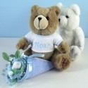 Bear Bouquet Personalized Baby Gift-boy