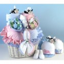 """Bee...utiful"" Baby Basket Gift for Twins"