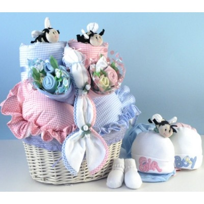 Bee...utiful Baby Basket Gift for Twins