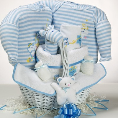 Catch-A-Star Boy Baby Gift Basket