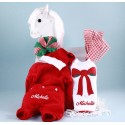 Christmas Outfit, Santa Hat, & Bib Personalized Baby Gift-Girl
