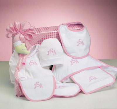Deluxe Layette Personalized Baby Girl Gift