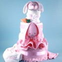 Deluxe Ricki Rabbit Personalized Diaper Cake