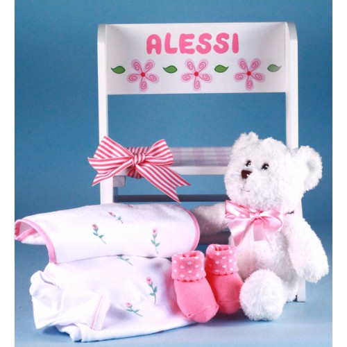 Deluxe Step Stool Personalized Baby Gift-girl