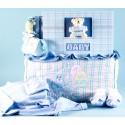 Deluxe Tote & Photo Album Baby Boy Gift