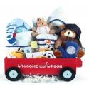 Deluxe Welcome Wagon Baby Boy Gift