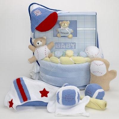 Forever Baby Book Towel & Baby Blanket Cake-boys