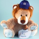 Giant Lion Plush Personalized Baby Gift Set