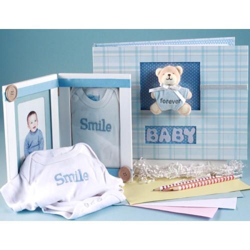 Keepsake Album & Photo Frame Baby Boy Gift Set