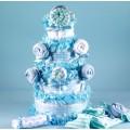 Lollipop Diaper Cake Baby Boy Gift