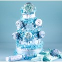 Lollipop Diaper Cake Baby Boy Gift