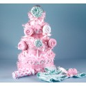Lollipop Diaper Cake Baby Girl Gift