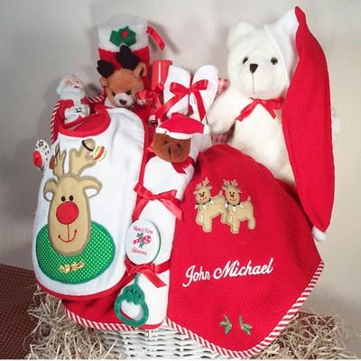 Merry Christmas Baby Gift Basket