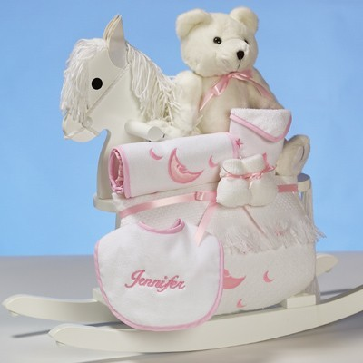 Personalized Rocking Horse Baby Girl Gift