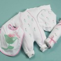 """Petite Fleur"" Layette Personalized Baby Gift"