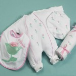 """""""Petite Fleur"""" Layette Personalized Baby Gift"""
