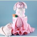 Ricki Rabbit Diaper Cake Baby Gift