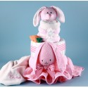 Ricki Rabbit Diaper Cake Personalized Baby Gift