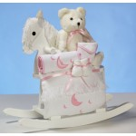 Rocking Horse & Layette Baby Girl Gift