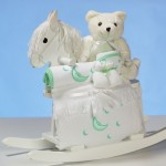 Rocking Horse & Layette Baby Shower Gift