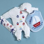 """Sail Away"" Layette Personalized Baby Gift"