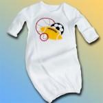 """Sport Balls"" Baby Gown"