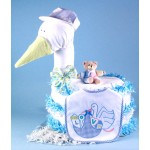 """Stork Delivers"" Baby Boy Diaper Cake"