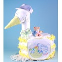 """Stork Delivers"" Baby Shower Diaper Cake"