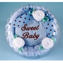 """Sweet Baby"" Boy Hooded Towel Cake"