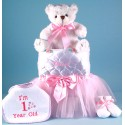 Tote,Tutu,Teddy First Birthday Baby Girl Gift
