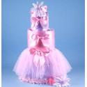 """""""Tutu Tasty"""" Newborn Diaper Cake Baby Girl Gift"""