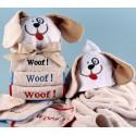 """""""Woof, Woof, Woof"""" Hooded Towel Baby Gift"""