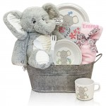 Baby Girl Pink Elephant Tin