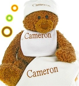 Gund Bear Cutie Collectible Set- Personalized- Brown