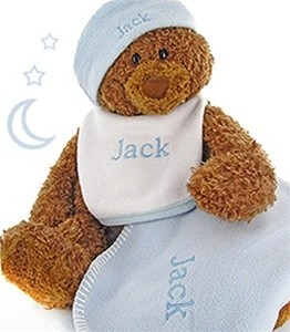 Gund Bear Cutie Collectible Set- Personalized- Blue