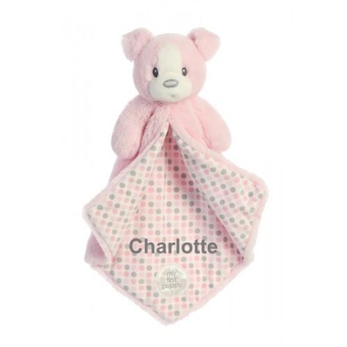 Polkadot Pink Puppy Blanket